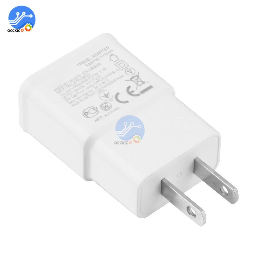 Cabeza de cargador USB 5V 2A adaptador de enchufe americano adaptador de corriente blanco 1 puerto cargador de pared carga rápida viaje hogar