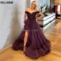 high split side beading formal evening dresses 2020 long robe de soiree turkish prom gown runaway party dress middle east dubai