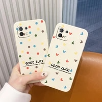 thin luckly love pattern phone case for xiaomi mi 11 10t 10 lite 9t note 10 redmi note 9 9t 8 8pro 7 7pro 9 9a k30 k20 cover