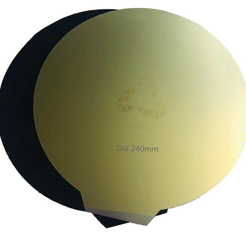 Энергичная Магнитная пружина сталь PEI печать кровать + Круглые Горячие наклейки для кровати Dia 200/240 мм Гибкая Пластина для Kossel Delta части 3d при...