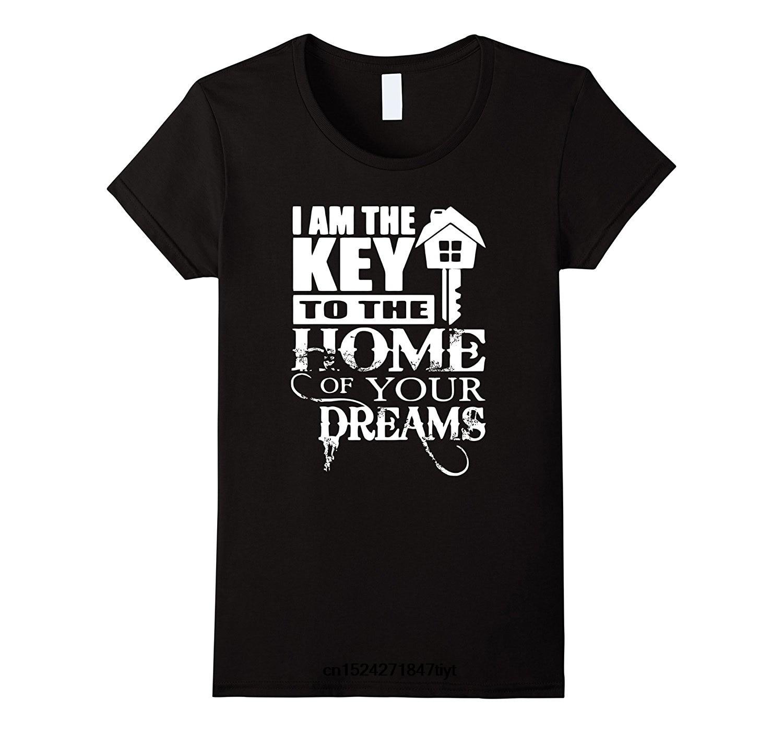 Camiseta divertida para hombre, camiseta blanca, camisetas negras, camiseta divertida de Realtor, soy la llave para el hogar de tu sueño