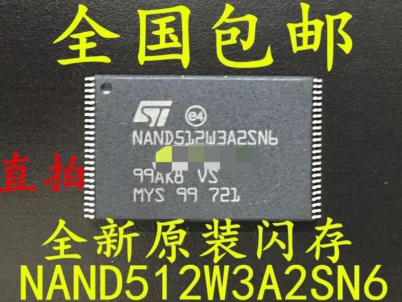 5 pçs/lote NAND512W NAND512W3A2SN6E 100% NOVA TSOP48 Original frete grátis