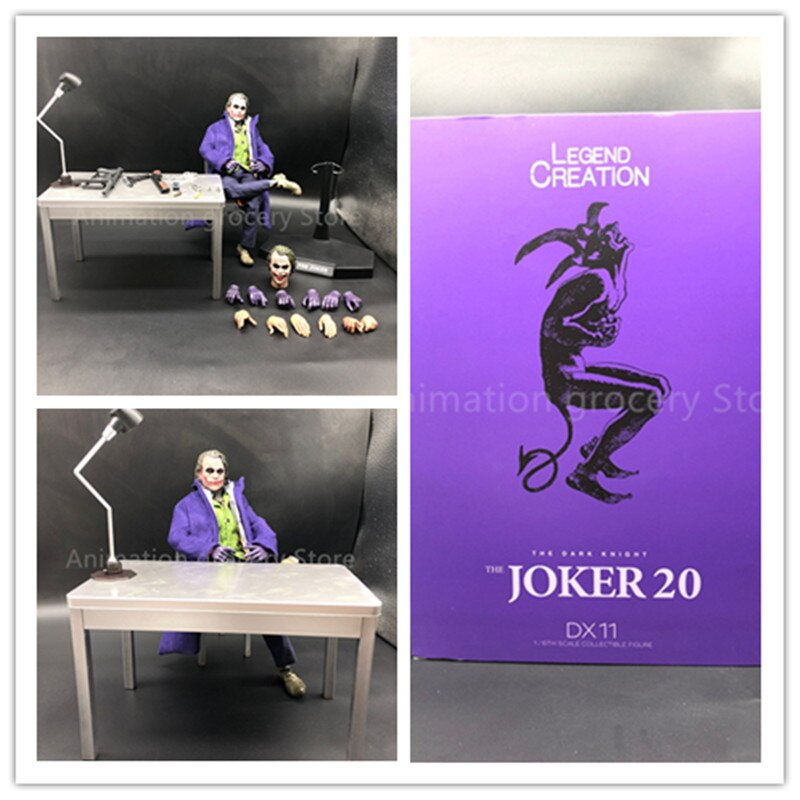 30cm Batman El caballero oscuro Joker versión Real ropa Ver. Juguete modelo coleccionable figura de acción de PVC Joker