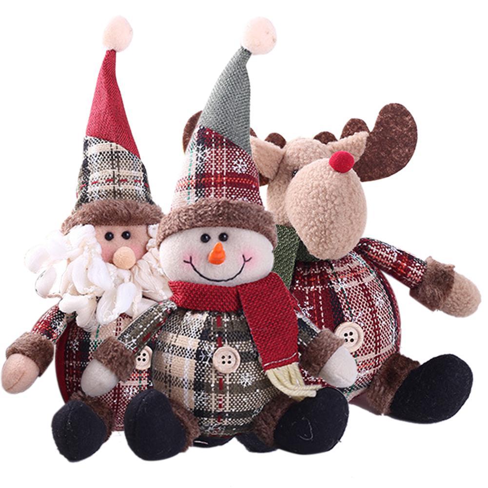 2018 Nova Bonito Papai Noel Boneco de Neve Dos Cervos Em Forma de Boneca Boneca de Presente Da Decoração Do Natal Da Árvore de Natal Ornamento de Suspensão