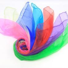 12Pcs Candy Farbe Platz Künstliche Seide Dance Schals Magie Jonglieren Requisiten