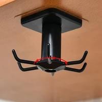 1pcs kitchen multifunctional self adhesive storage hook black and white plastic storage rack rotating tool