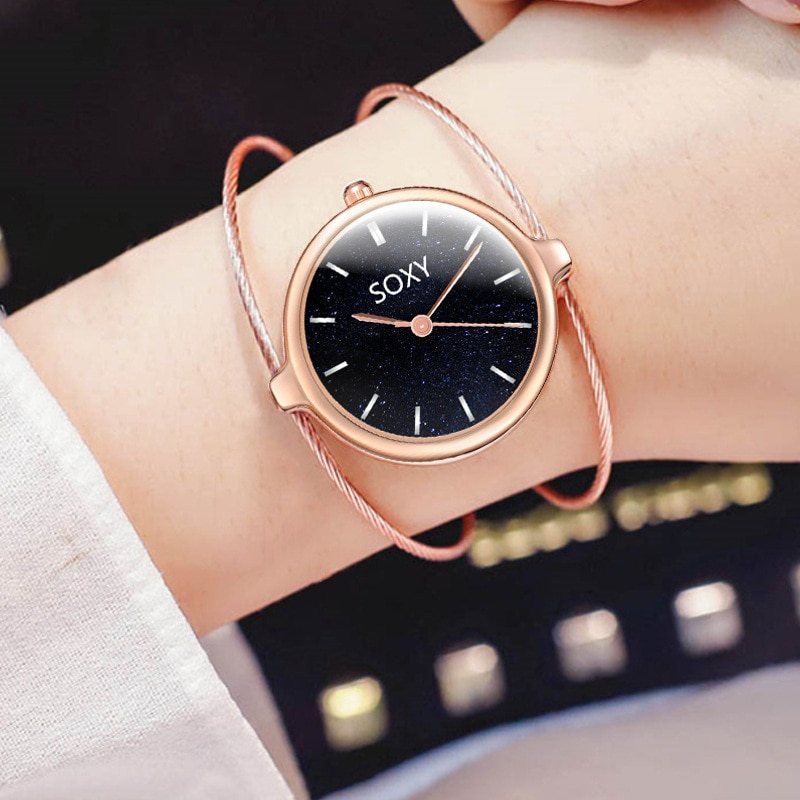 Womens Watches Top Brand Luxury Jewelry Hollow Out Bracelets For Women Watches Rose Gold Quartz Watch Women Ladies Wrist Watch enlarge