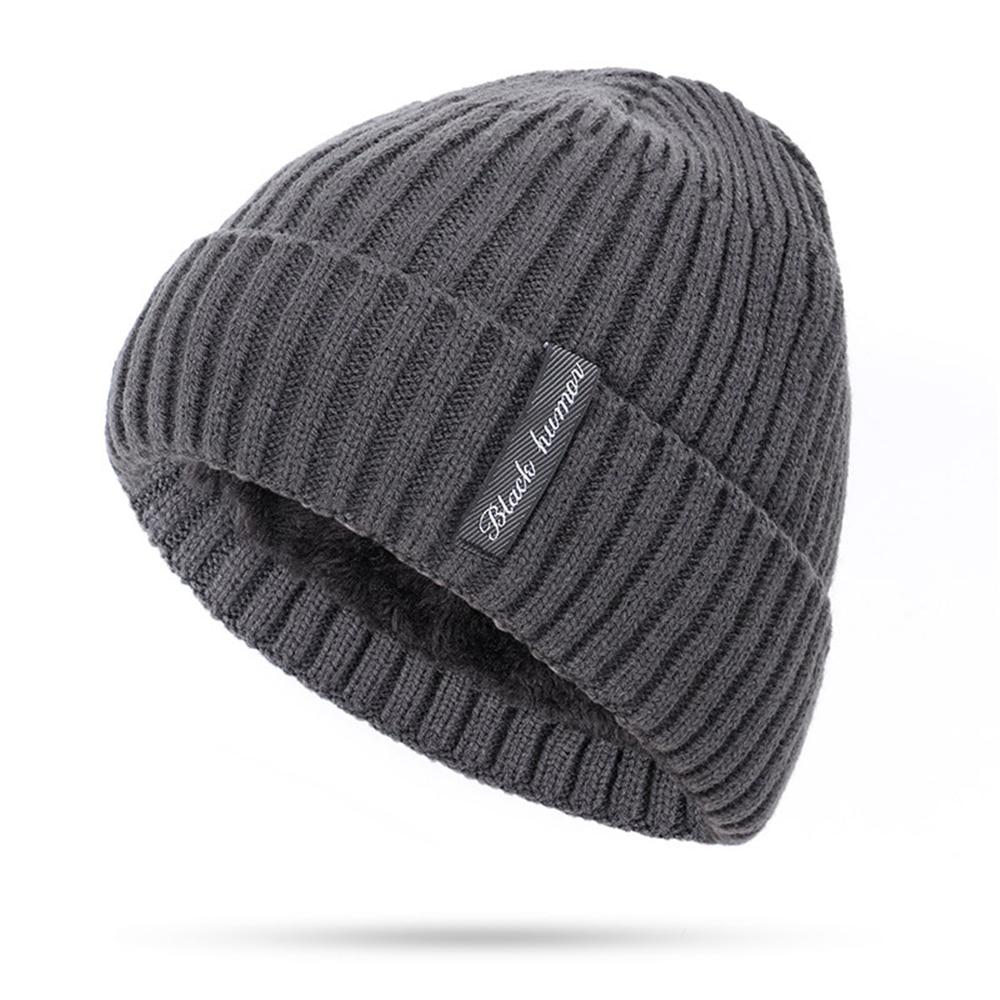 Брендовая новинка, плотные теплые облегающие шапки для мужчин и женщин, вязаная шапка, облегающие шапки, шапки, шерстяные шапки унисекс, защ...