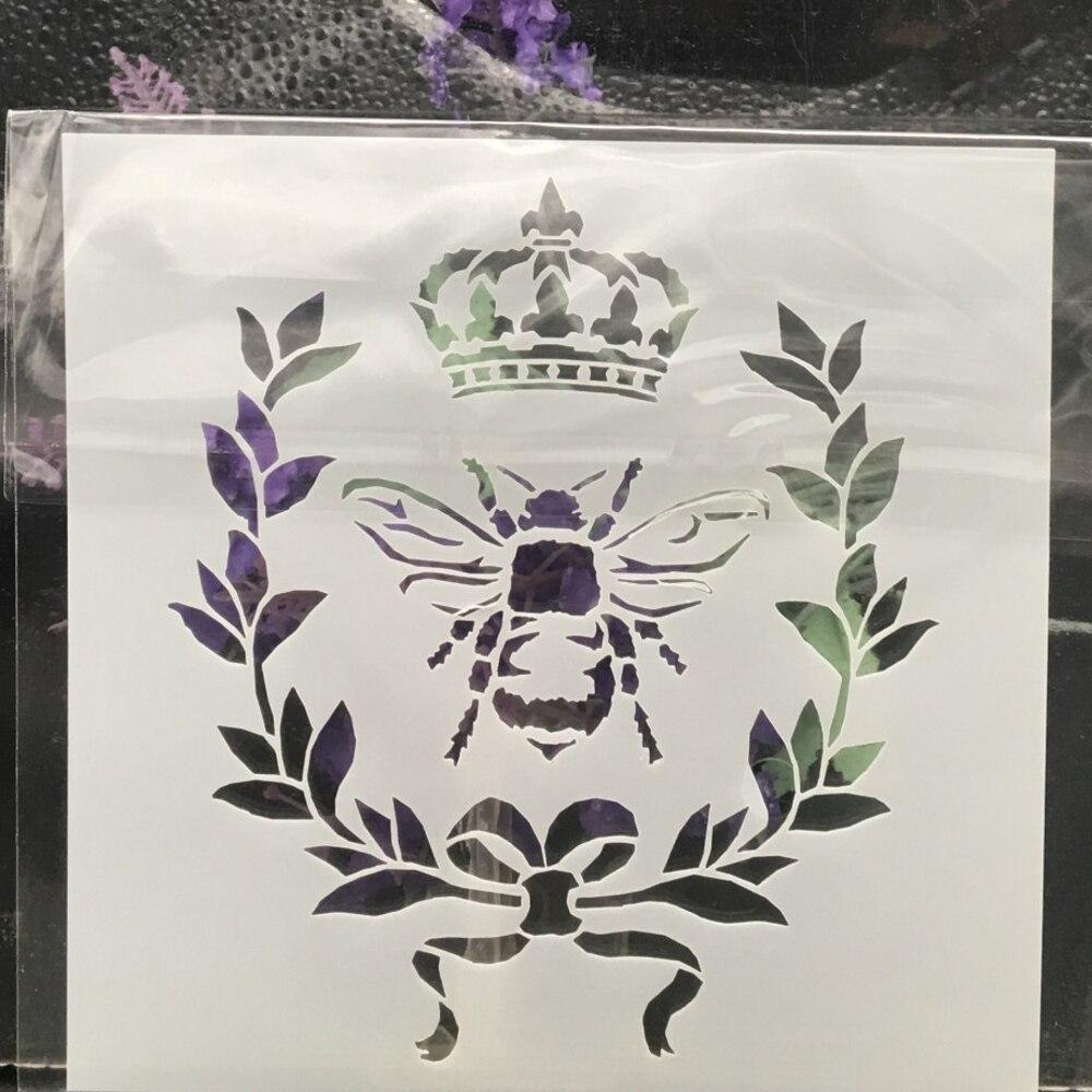 13cm corona de abeja DIY esténcil de capas pintura de pared libro de recortes colorear tarjeta decorativa en relieve para álbum plantilla