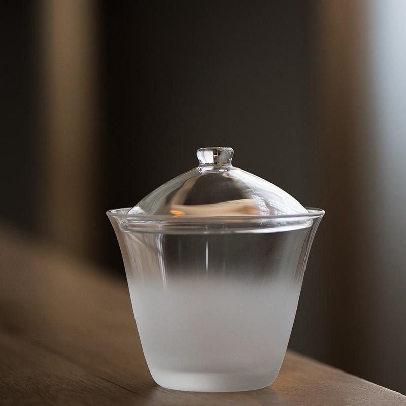 LUWU-إبريق شاي زجاجي شفاف ، مقاوم للحرارة ، 130 مللي