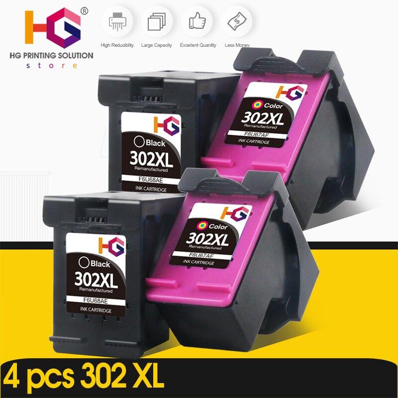 Substituição do Bloco para hp Cartucho de Tinta para hp Deskjet 2130 3630 Envy 4520 Officejet 4650 Impressora 4 302 xl hp 302xl