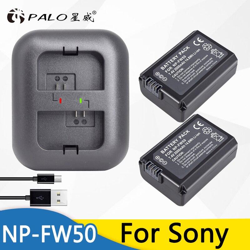 Bateria NP PALO FW50 NPFW50 5 NP-FW50 Bateria para SONY NEX T 5R 5TL 5N 5C 5CK A7R A7 F3 3N 3CA55 A37 A5000 A6000 A55