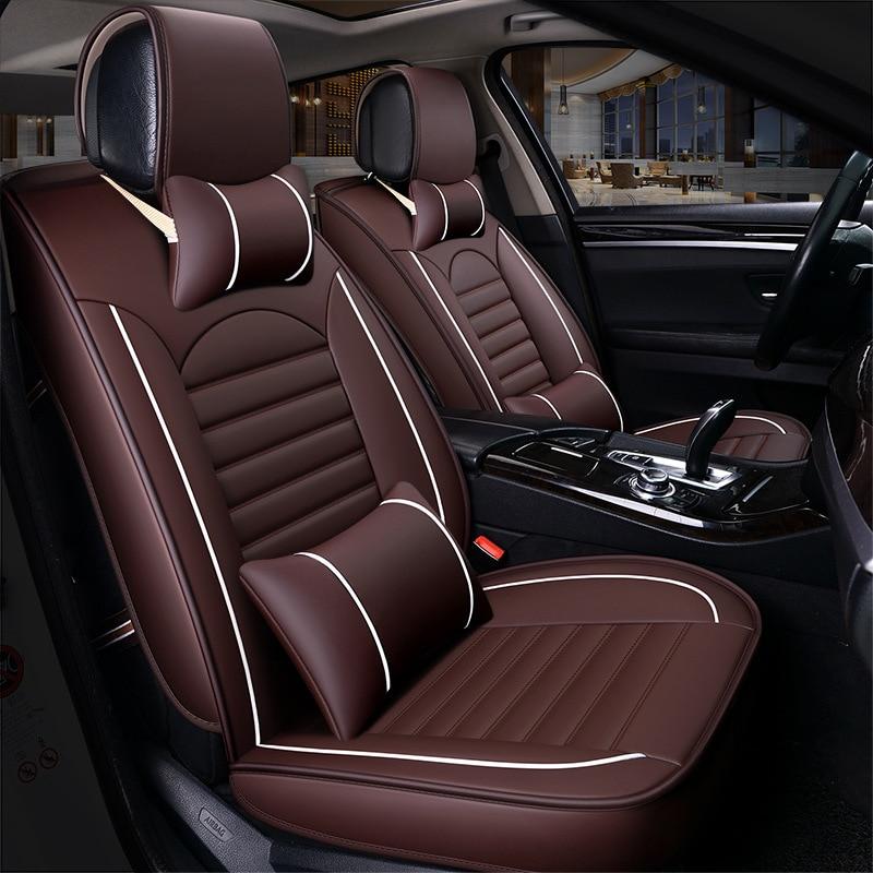 Kalaisike fundas universales de cuero para asiento de coche para Besturn todos los modelos B30 B90 X40 B50 B70 X80 accesorios de coche estilo