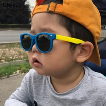 LongKeeper Kids Polarized Sunglasses TR90 Boys Girls Sun Glasses Silicone Safety Glasses Gift For Ch