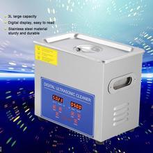 3L acier inoxydable mécanique nettoyeur à ultrasons 120W bain chauffé et minuterie nettoyage réservoir Machine avec panier pour bijoux montre