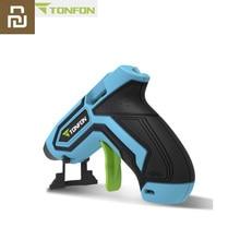 Tonfon Wireless Hot Melt Glue Gun Stick Industrial Mini Guns Thermo Electric Heat Temperature Tool for 7mm Diameter