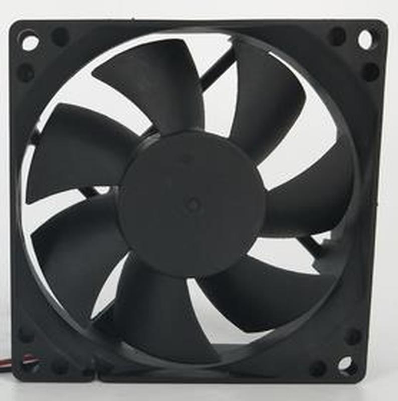 Para jóvenes LIN DFS802512H DC 12V 2W 80x80x25mm 2-alambre ventilador cuadrado para servidor