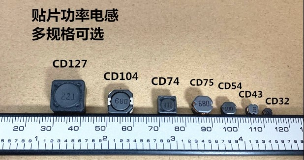 50pcs/lot CD/CDRH104R series SMD power inductors shielded power inductors Volume: 10*10*4MM free shipping