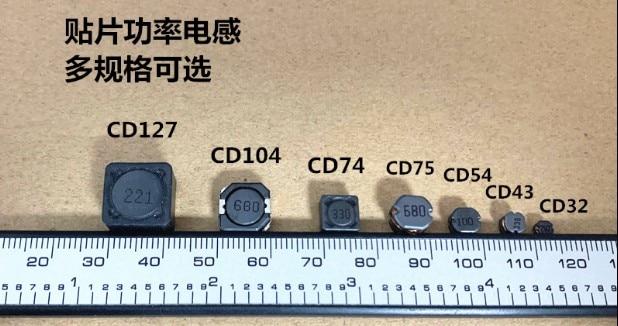 50 шт./лот CD/CDRH104R Серия SMD Силовые индукторы экранированные Силовые индукторы громкость: 10*10*4 мм Бесплатная доставка