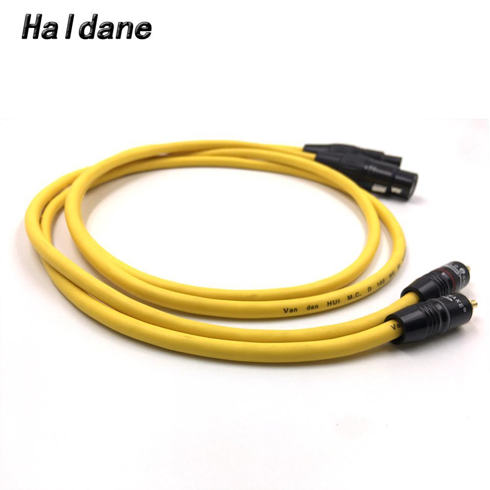 Haldane tipo de par-5 XLR equilibrado a RCA Cable de Audio de 2RCA hombre a 2XLR hembra Cable de interconexión con VDH Van Den Hul 102 MK III