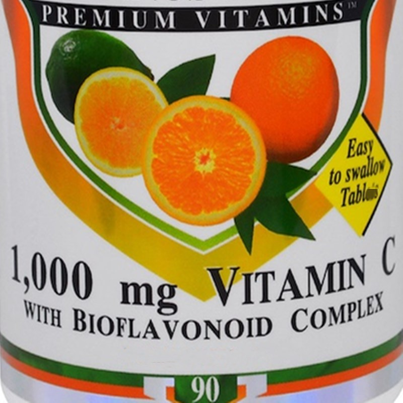 Complejo de vitamina C y bioflavonoide, 1000 mg, 90 unidades