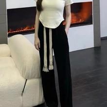 2021 New Fall Casual Pants Women's Thin High Waist Hanging