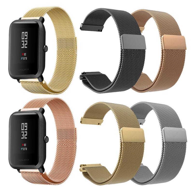 Correa de reloj de Metal de 20MM para reloj de pulsera de Amazfit Bip para Xiaomi Huami Amazfit Bip Youth Watch de acero inoxidable 오오