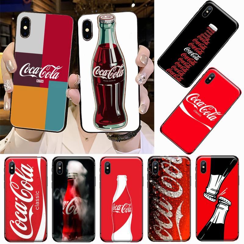 Funda de teléfono blanda de marca de lujo de coca coke famosa para iPhone 11 12 pro XS MAX 8 7 6 6S Plus X 5S SE 2020 XR