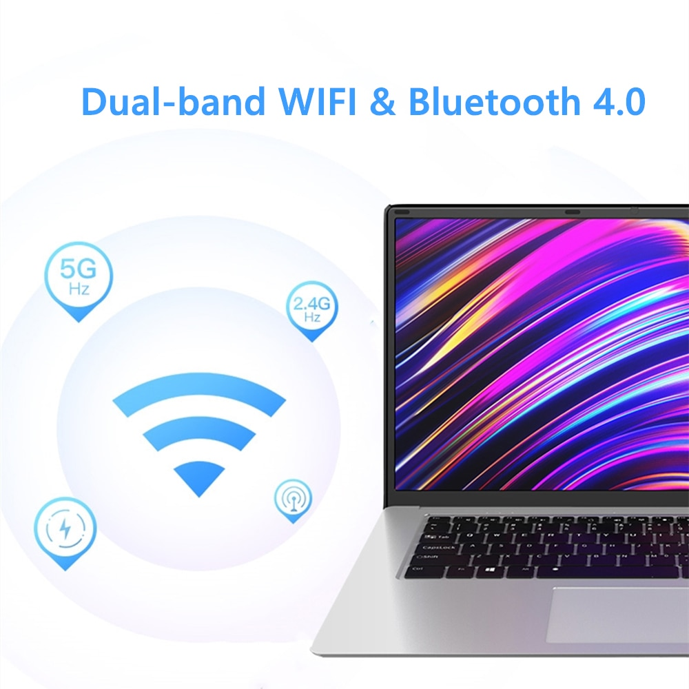 15.6 inch Laptop With 8GB RAM 1TB 512GB 256GB 128GB 64GB SSD ROM J3455 Notebook Computer 4 Core Ultrabook Netbook For Student