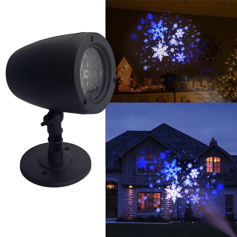 Natal led laser floco de neve projetor natal jardim neve paisagem lâmpada luzes de natal ao ar livre decorações de natal dropship