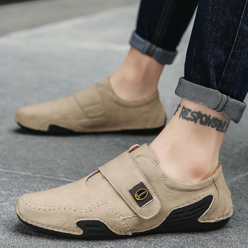 Мужские Водонепроницаемые мокасины из спилка, удобная повседневная обувь, плоская подошва, размеры 39-46