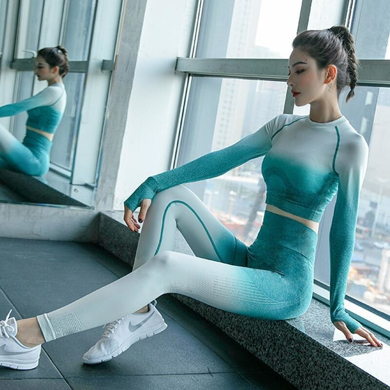 Ropa Deportiva Sin Costuras Para Mujer De Conjunto De Yoga Ropa De...