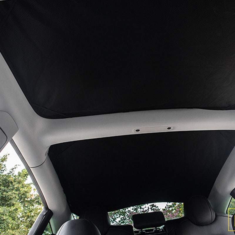2021 Model3 New Sun Shades Glass Roof Sunshade For Tesla Model 3 Front Rear Sunroof Windshield Skylight Blind Shading Net enlarge
