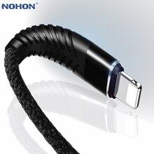 Câble USB NOHON 3M 2M 1M 8 broches haute résistance pour iPhone 8X7 6 6S Plus iOS 11 10 9 câble chargeur USB câbles de téléphone portable en Nylon