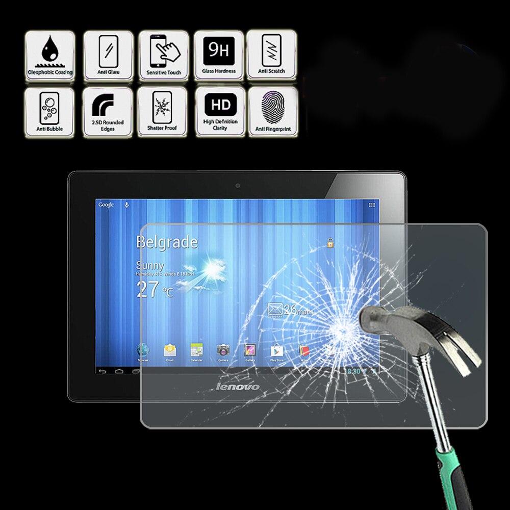 "Para lenovo ideatab s6000 10.1 ""-tablet protetor de tela de vidro temperado capa hd qualidade protetor de filme de tela guarda capa"