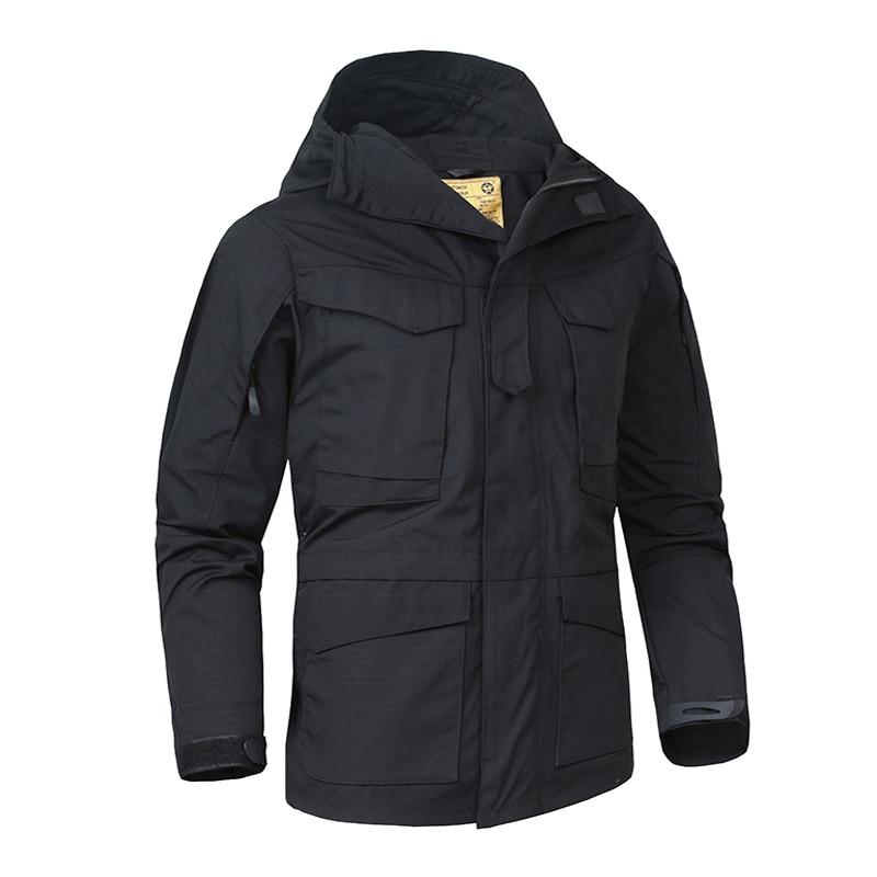 Mens Tactical jacket M65 field hooded military jacket men windbreaker mens autumn outdoor wear waterproof breathable army coat