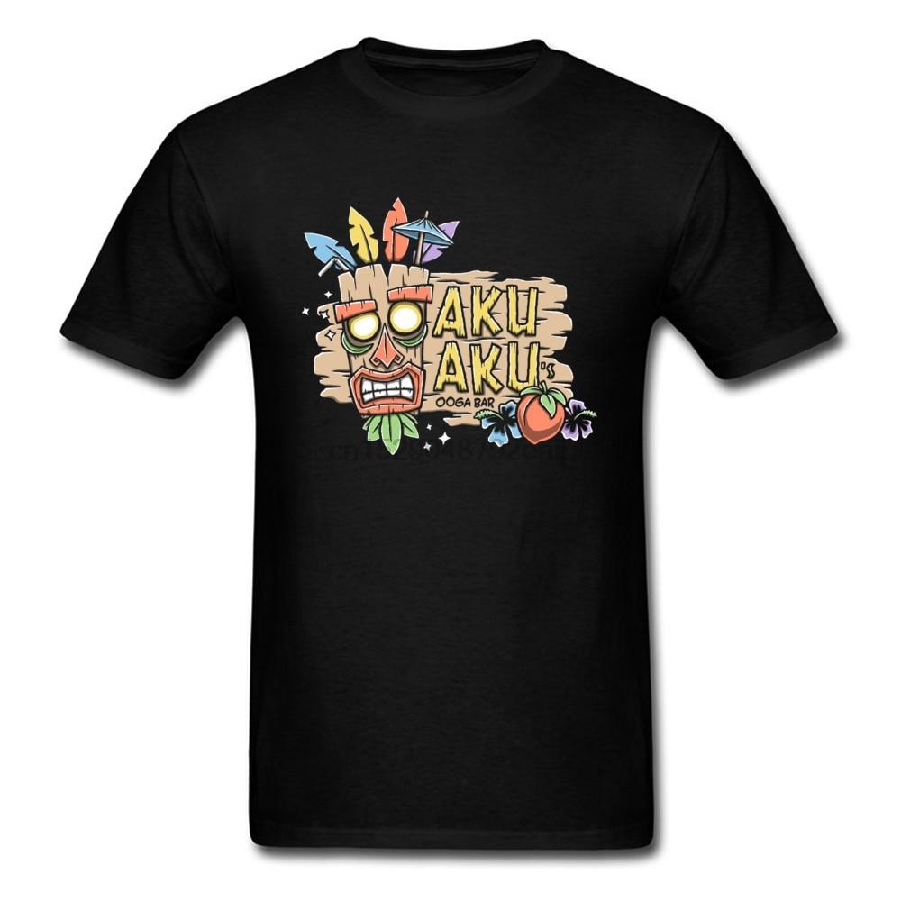 Camiseta de algodón de Verano de la historieta de la camiseta de los hombres de Akuaku