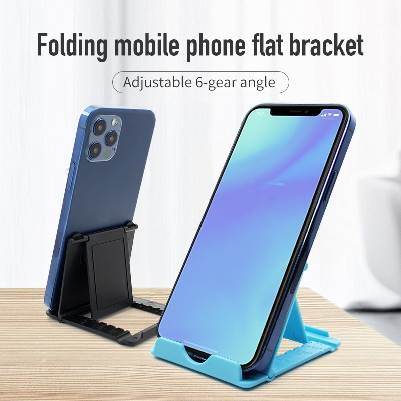 Soporte de mesa plegable de plástico para teléfono móvil y soporte universal...