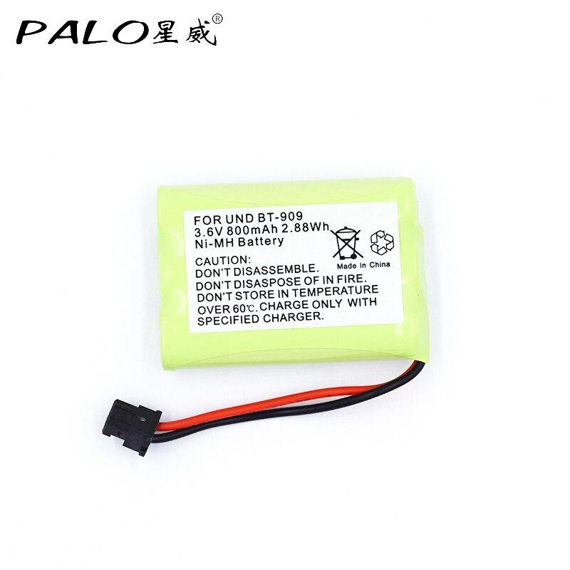 1 Uds. Batería recargable de teléfono inalámbrico para uniden BT-909 BT909 3 * AAA ni-mh 800mAh 3,6 V baterías recargables