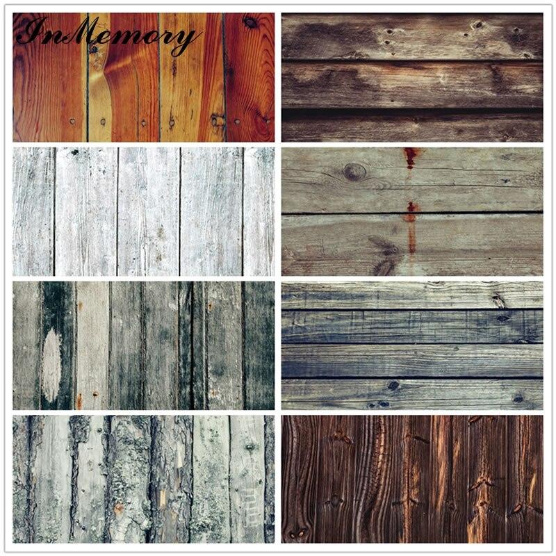 Fondos fotográficos personalizados Grunge con textura de tablón de sesión fotográfica de tablero de madera InMemory para foto de estudio