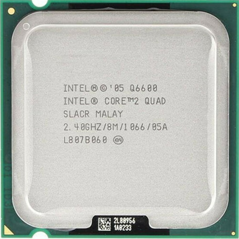 إنتل وحدة المعالجة المركزية Core2 رباعية Q6600 2.40GHz/8M/1066MHz رباعية النواة المقبس 775 Q6600 Q6700 Q8200 Q8300 Q8400 Q9300 Q9400 Q9450 Q9550 وحدة المعالجة المركزية