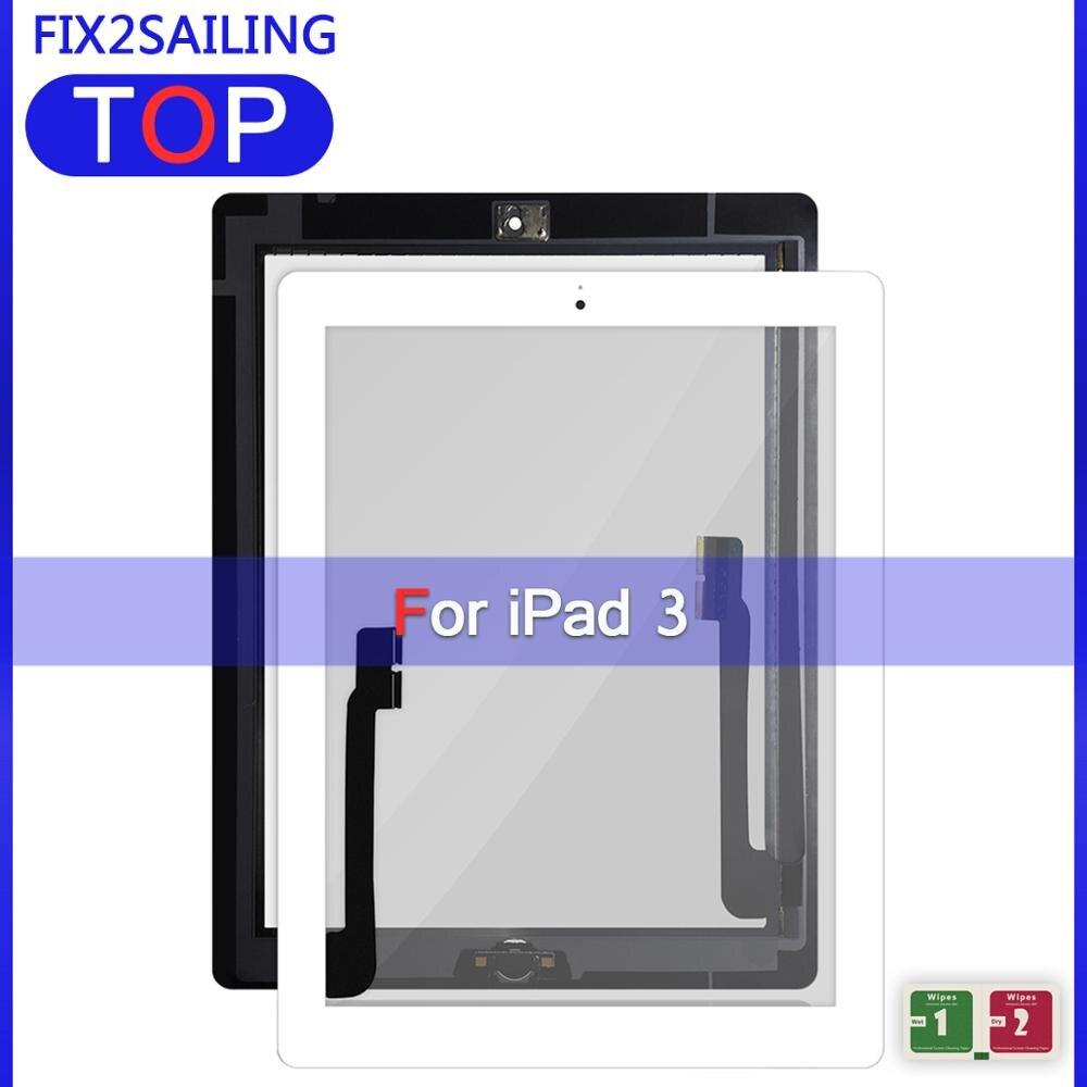"""9.7 """"para ipad 3 tela digitador da tela de toque vidro a1416 a1430 a1403 a1458 a1459 a1460 painel com botão chave"""