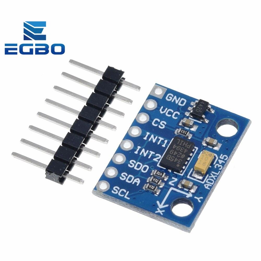 Egbo venda quente GY-291 adxl345 digital triaxial aceleração de inclinação de gravidade módulo iic/spi transmissão para arduino