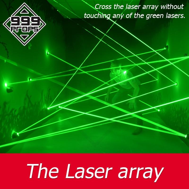 999 adereços laser array para sala de fuga jogo labirinto laser adereços jogo accross laser