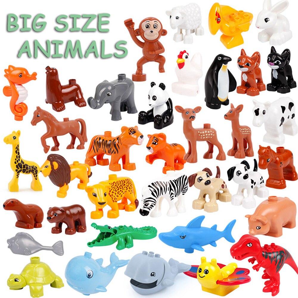 Большие размеры, животные, Кит, крокодил, печать, олень, панда, развивающие игрушки для детей, совместимы с большими размерами, подарки для детей|Блочные конструкторы| | АлиЭкспресс