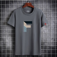 2021 Summer Men T-shirt Short Sleeve Round Neck Streetwear Party Tops Trendy Casual Increase Male Tshirts Gym Slim Fitness Tees
