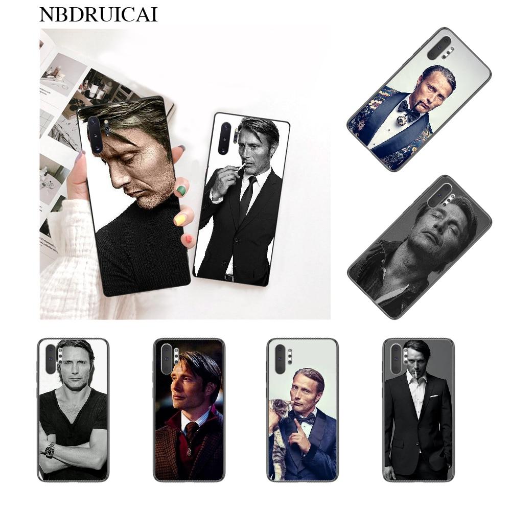 NBDRUICAI Mads Mikkelsen foto personalizada funda de teléfono suave para Samsung Note 3 4 5 7 8 9 10 pro M10 20 30