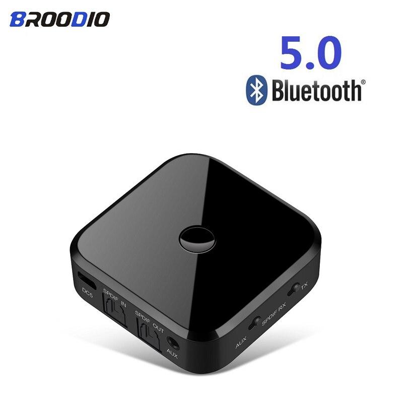 Transmisor receptor 2 en 1 Bluetooth 5,0 adaptador inalámbrico de Audio estéreo APTX HIFI fibra óptica SPDIF de 3,5mm para altavoz de ordenador de TV
