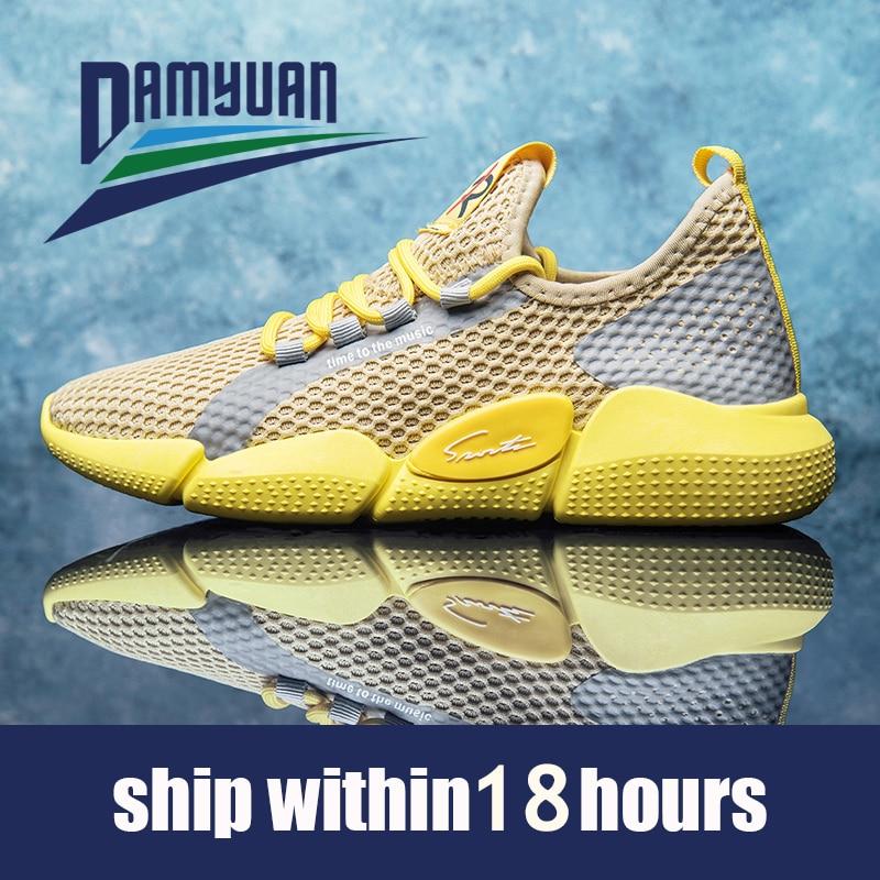 Damyuan 2020 respirável masculino casual sapatos de malha respirável homem sapatos casuais moda mocassins leve homem tênis venda quente