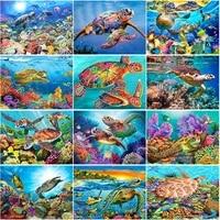 beautiful underwater diamond painting full square tortoise mosaic full square drill diamond embroidery crafts kit decorative